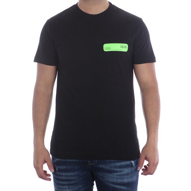 Versace Jeans Couture   T-shirt met groene opdruk