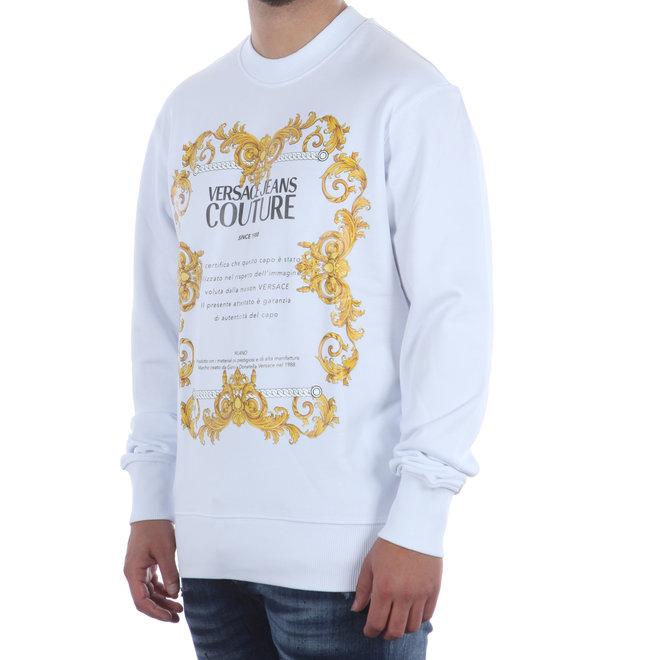 Versace Jeans Couture | Witte trui met Baroque print