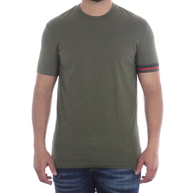 Dsquared2   Groen T-shirt met logoband