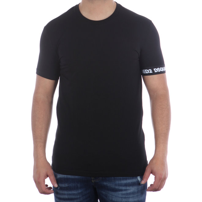 Dsquared2 | Zwart T-shirt met logoband