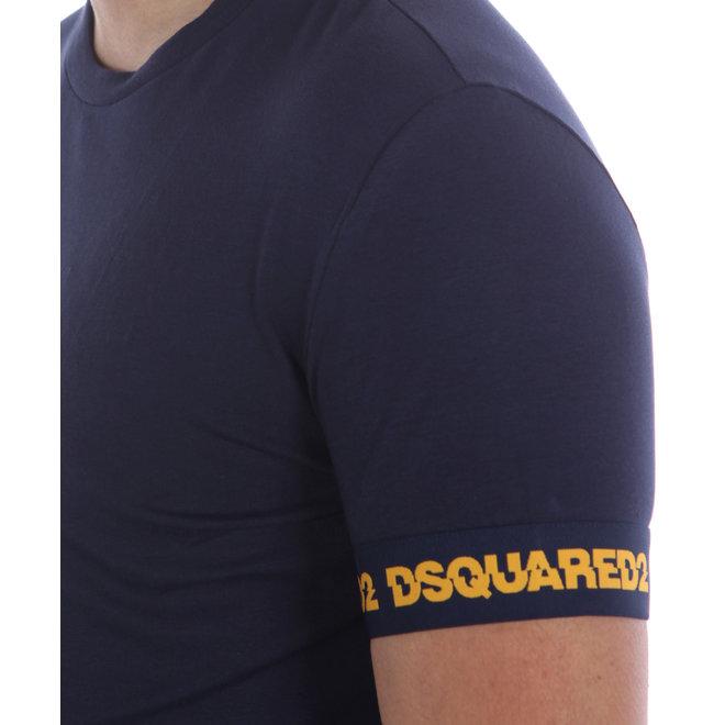 Dsquared2 | Paars T-shirt met logoband