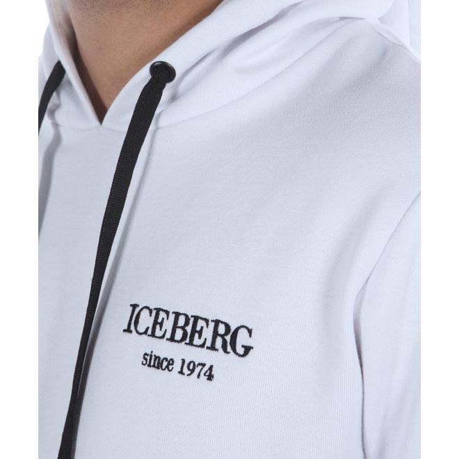 Iceberg   Witte trui met capuchon