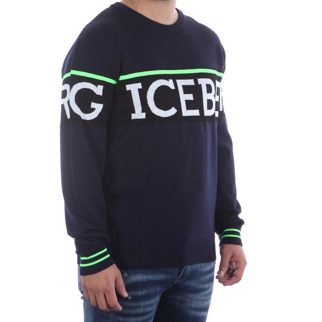 Iceberg | Donkerblauwe trui met logo