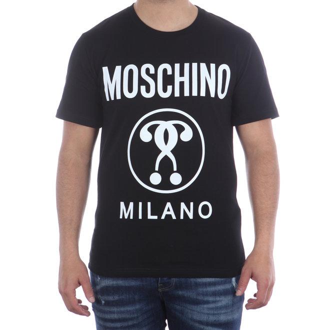 Moschino   T-shirt Moschino Milano   Zwart