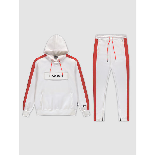 Banlieue | Pocket Tracksuit White / Orange