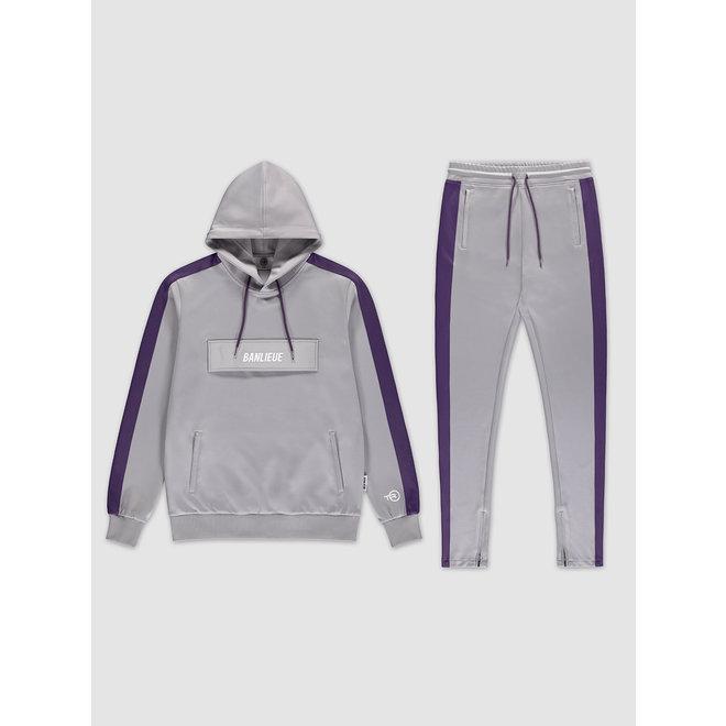 Banlieue | Pocket Tracksuit Grey / Purple