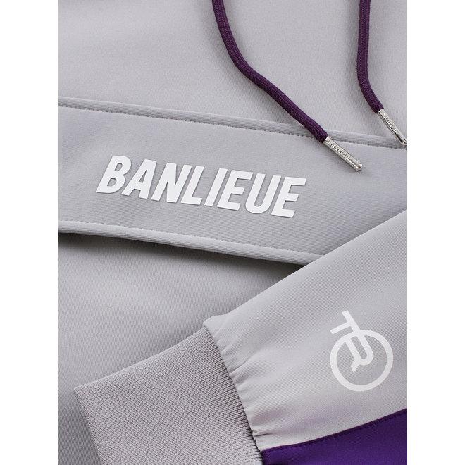 Banlieue | Trainingspak grijs / paars