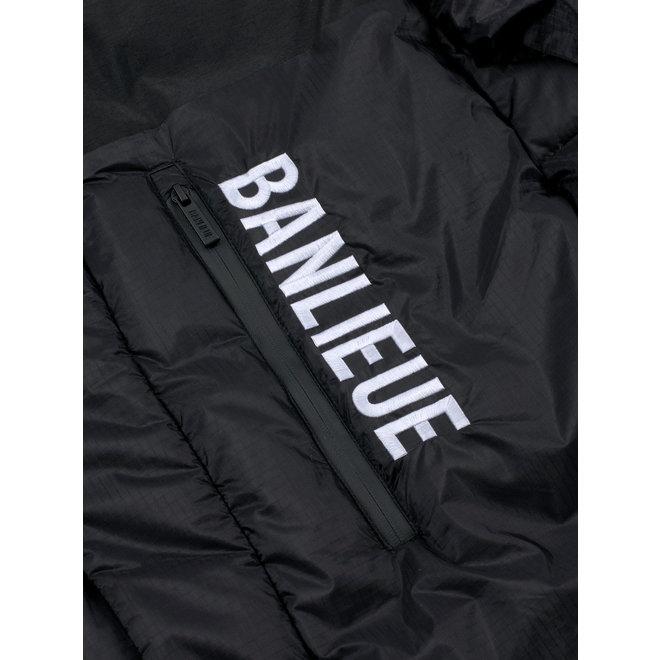 Banlieue | Donsjack 'Solid Script' | Zwart