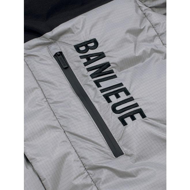 Banlieue | Donsjack met capuchon Solid Script - grijs