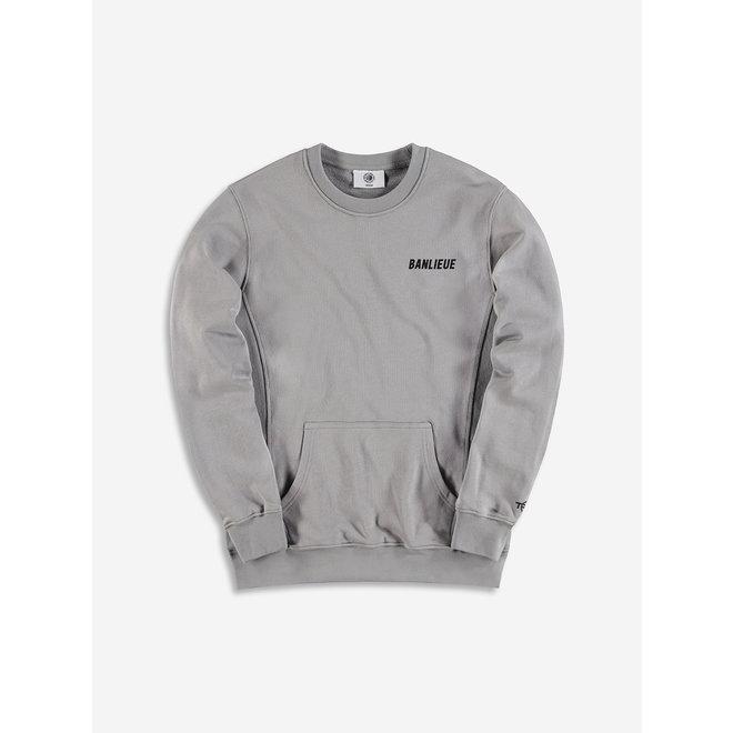 Banlieue | Grijze crewneck sweater grijsBa