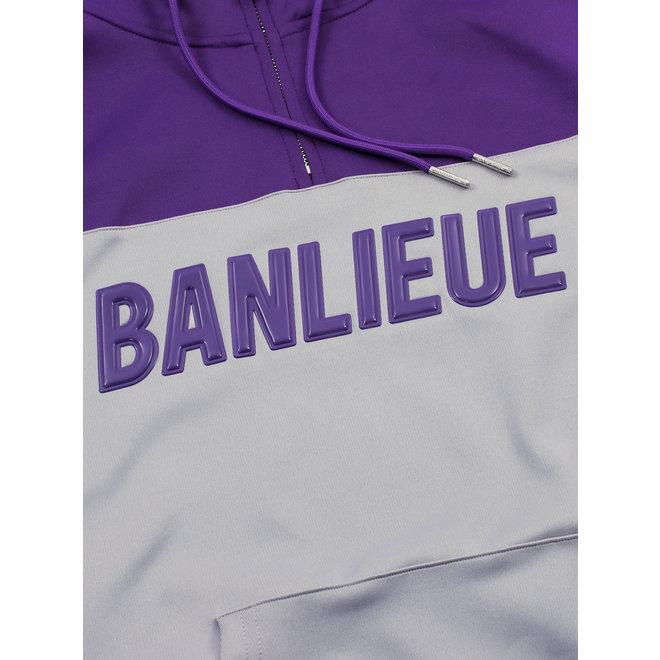 Banlieue | Trainingspak script paars / grijs
