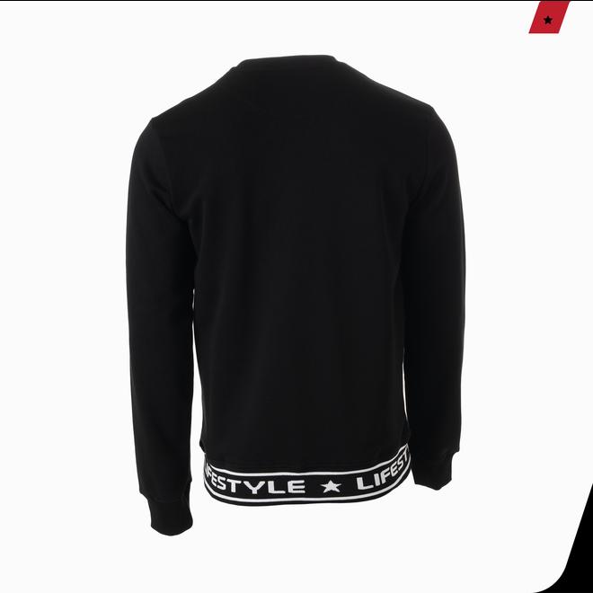 AB Lifestyle | Sweater met logoband | Zwart