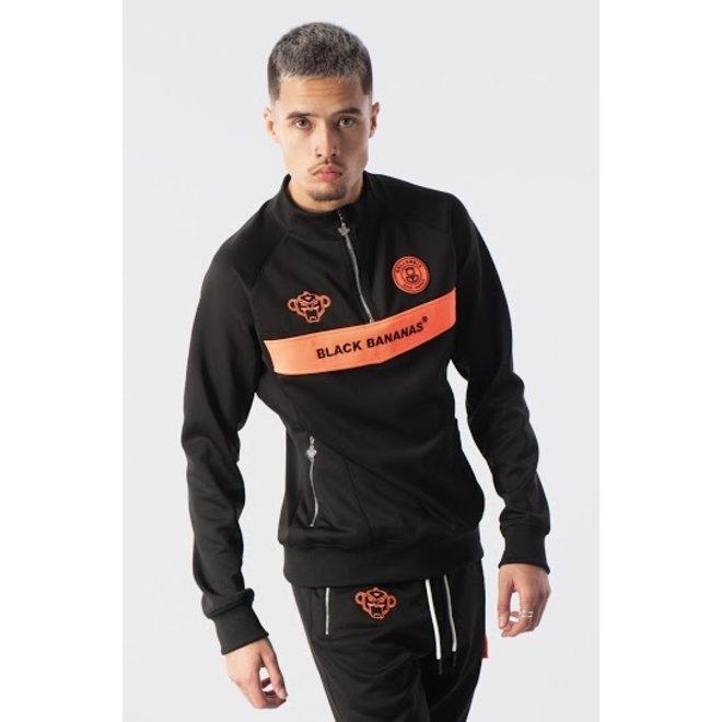 Black Bananas | Anorak Neon Trainingspak | Zwart / Oranje