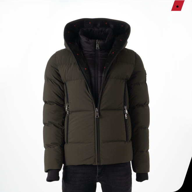 AB Lifestyle | Hooded Down Jacket Green