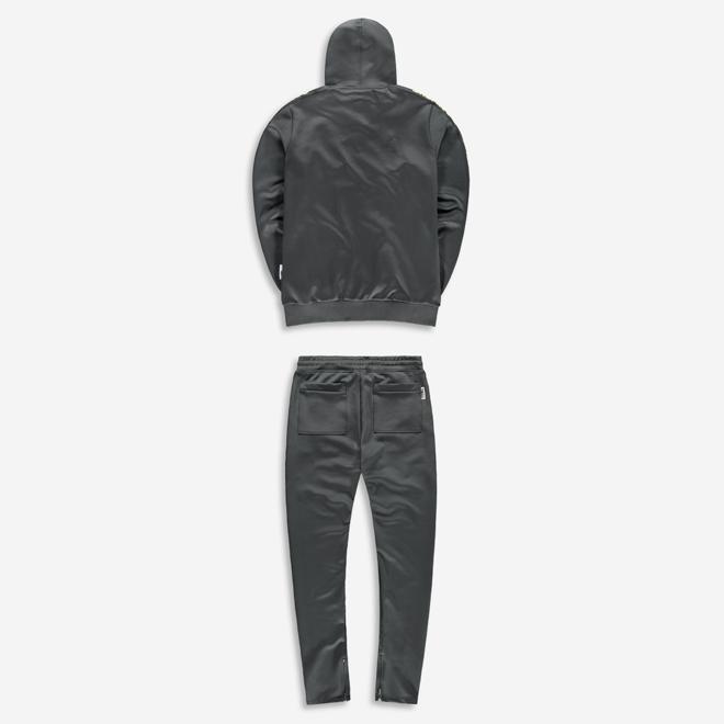 Banlieue | Full zip trainingspak | Grey / Lime