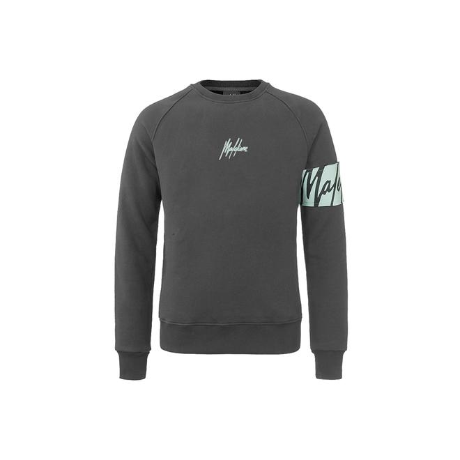 Malelions | Sweater grijs met captainband