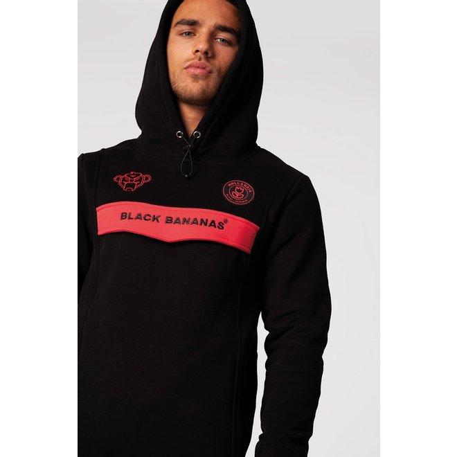 Black Bananas | Zwarte hoodie met neon roze