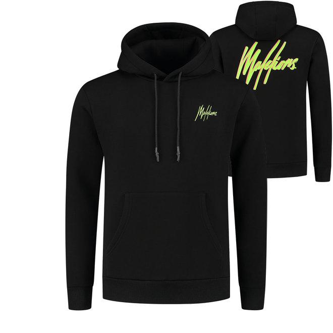 Malelions | Hoodie zwart / neon geel | met gratis parfum!