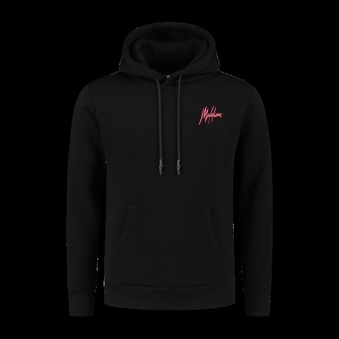 Malelions | Hoodie zwart / neon rood | met gratis parfum!