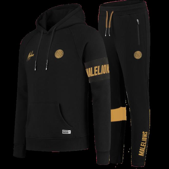 Malelions | Sport Captain Tracksuit Black / Gold