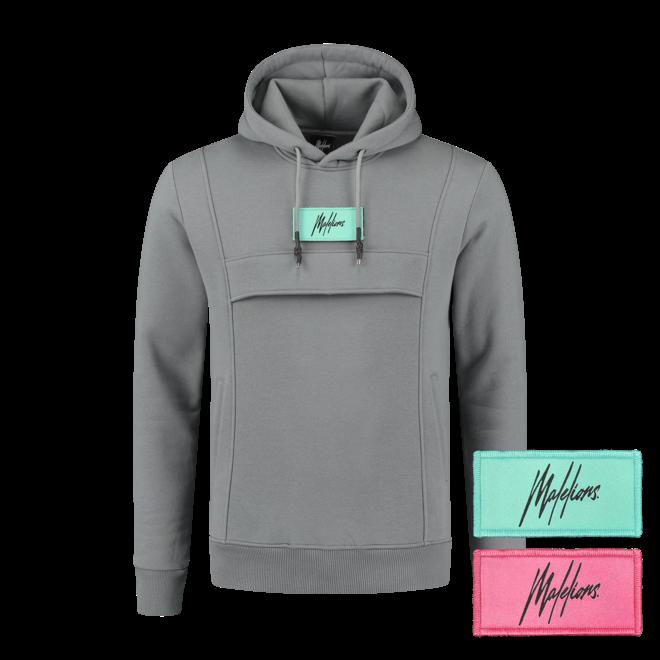 Malelions | Grijze hoodie met verwisselbare patch