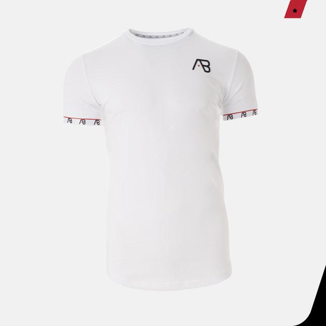 AB Lifestyle | T-shirt wit met logo