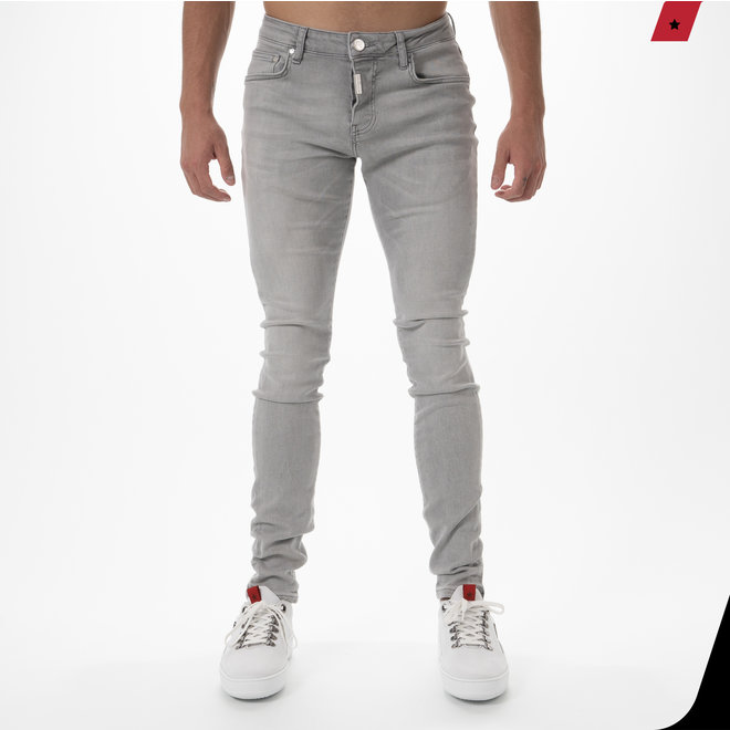 AB Lifestyle | AB Basic Stretch Jeans Light Grey