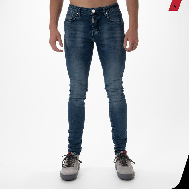 AB Lifestyle | AB Stretch Jeans Mid Blue