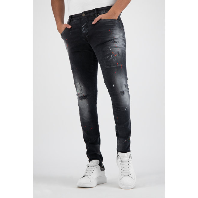 Boragio | Zwarte jeans 7668