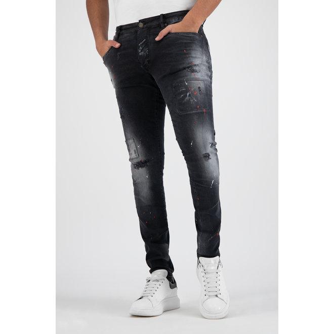 Boragio | Jeans 7668 | Black