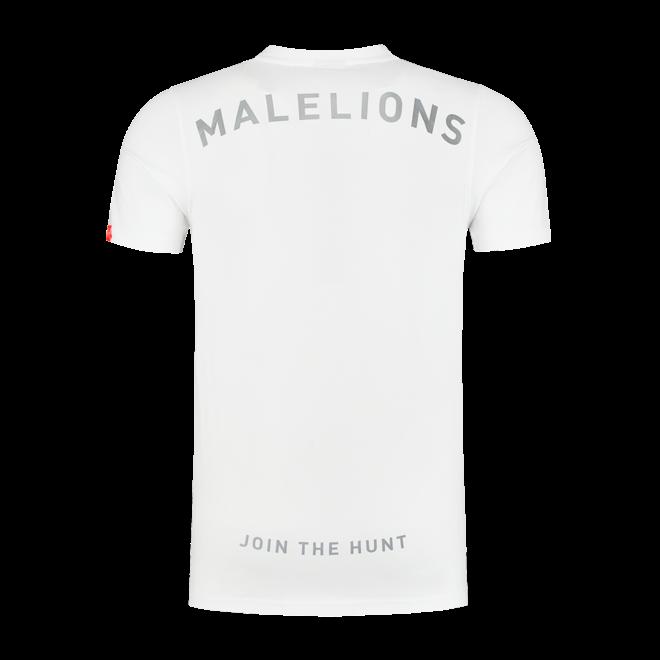 Gyzo t-shirt met logo   Wit   Malelions