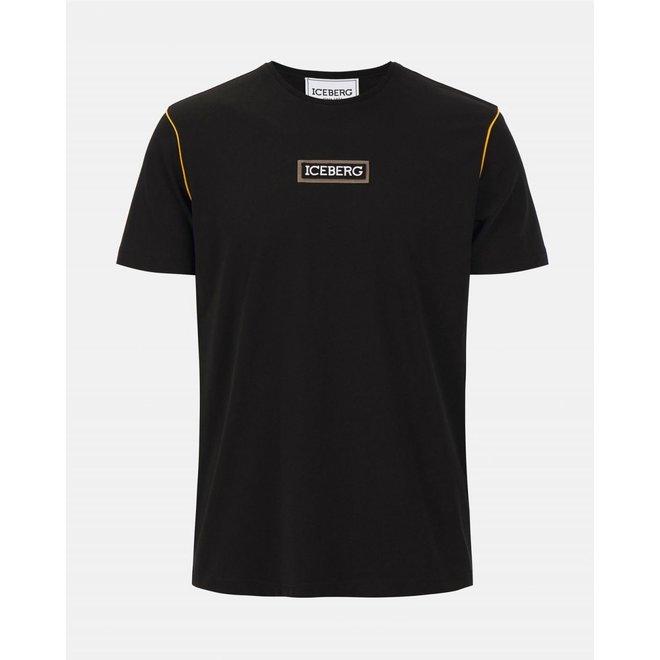 Iceberg | T-shirt Yellow Piping | Black