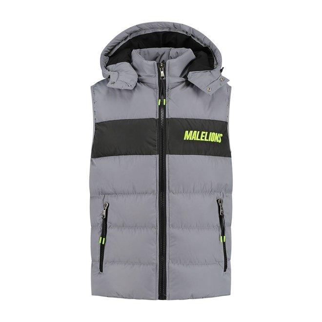 Malelions | Bodywarmer | Grey & Lime