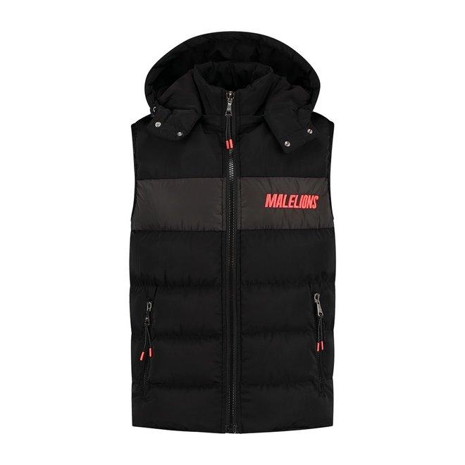 Bodywarmer | Neon rood & zwart | Malelions