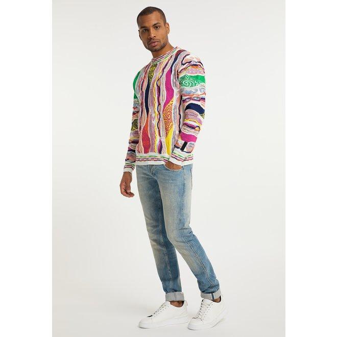 Sweater | Wit / Multicolor | Carlo Colucci