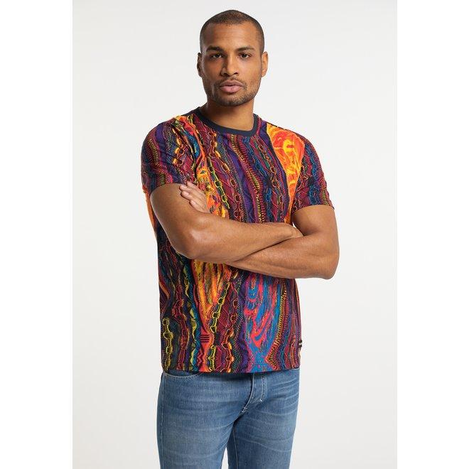 T-shirt   Donkerblauw / Multicolor   Carlo Colucci