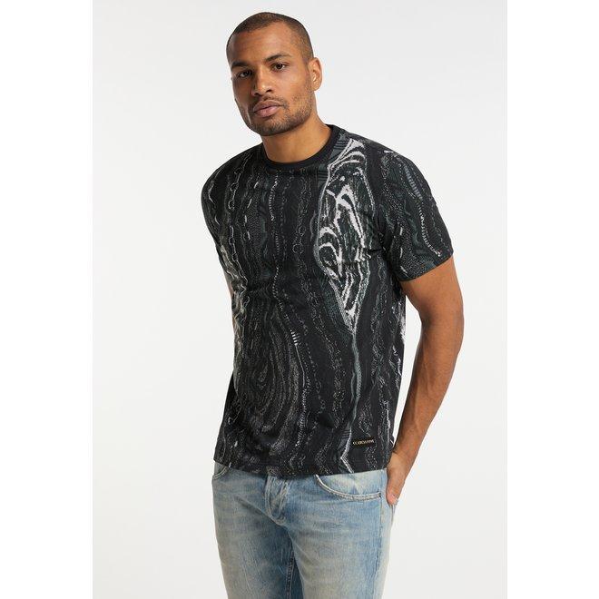 T-shirt | Zwart / Wit | C3043 201 | Carlo Colucci