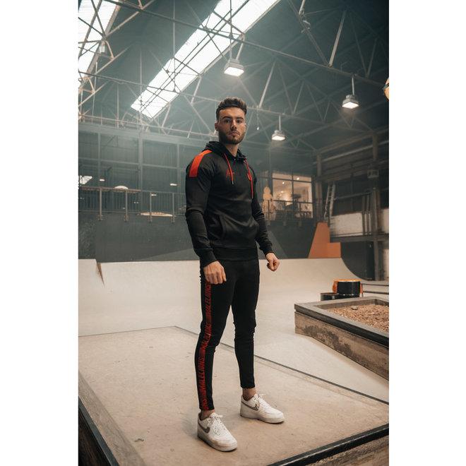 Striker Tracksuit | Zwart / Neon Rood | Malelions Sport
