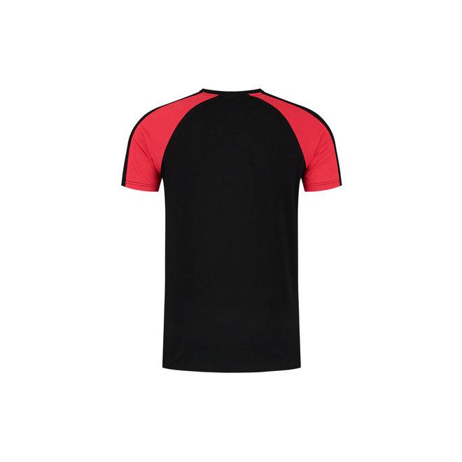 Striker Tracksuit kort | Zwart / Neon Rood | Malelions Sport