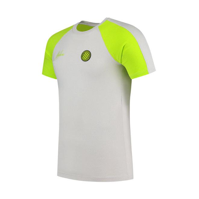Malelions Sport | Striker tracksuit short | Grey & Lime
