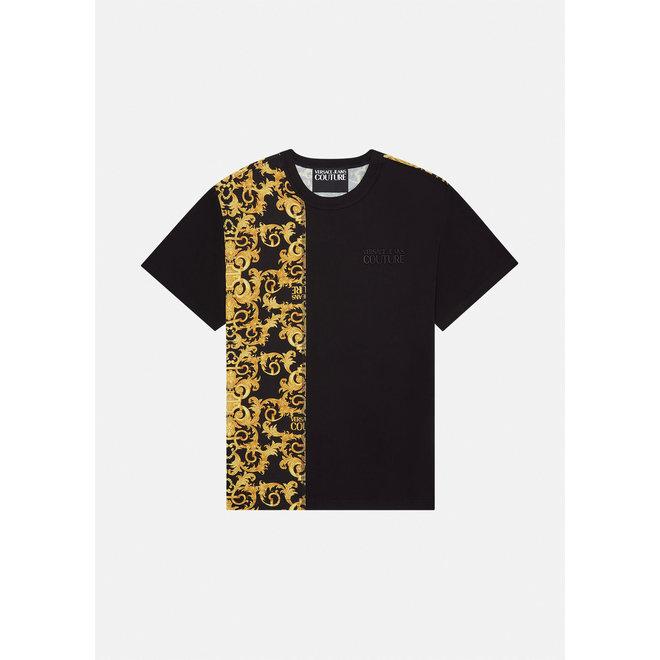 Versace Jeans Couture | Logo Baroque T-shirt | Black / Gold