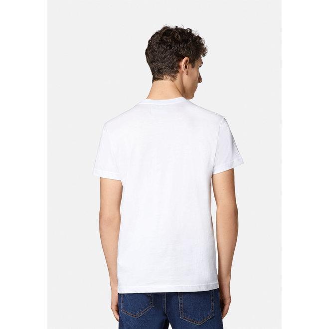 Logo t-shirt   Wit met gekleurd logo   Versace Jeans Couture