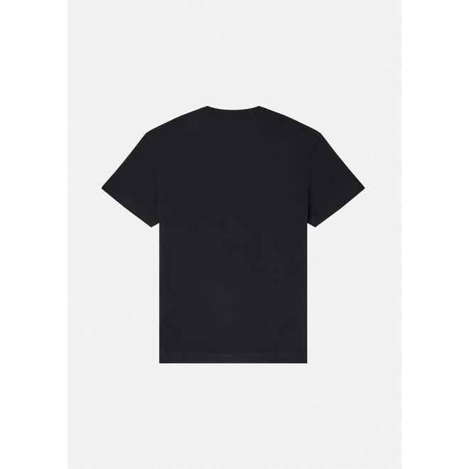 Logo t-shirt | Zwart met kleurrijk logo | Versace Jeans Couture