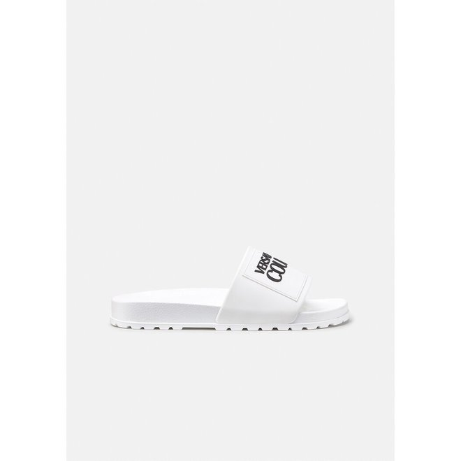 Logoband slippers | Wit | Versace Jeans Couture