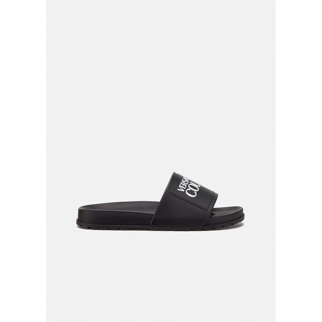 Logoband slippers | Zwart | Versace Jeans Couture