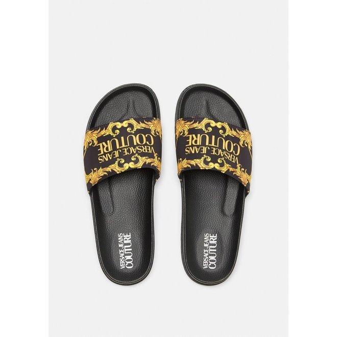 Logo Baroque Print Slippers | Versace Jeans Couture