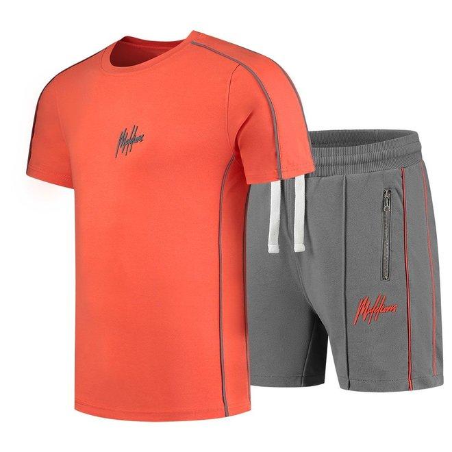 Thies set | T-shirt + Short | Oranje / Grijs | Malelions