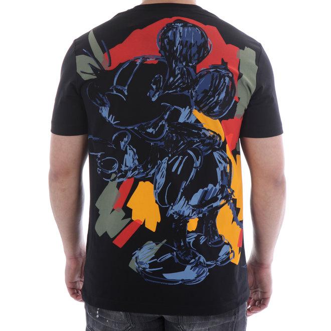 T-shirt Mickey Mouse   Zwart   Iceberg
