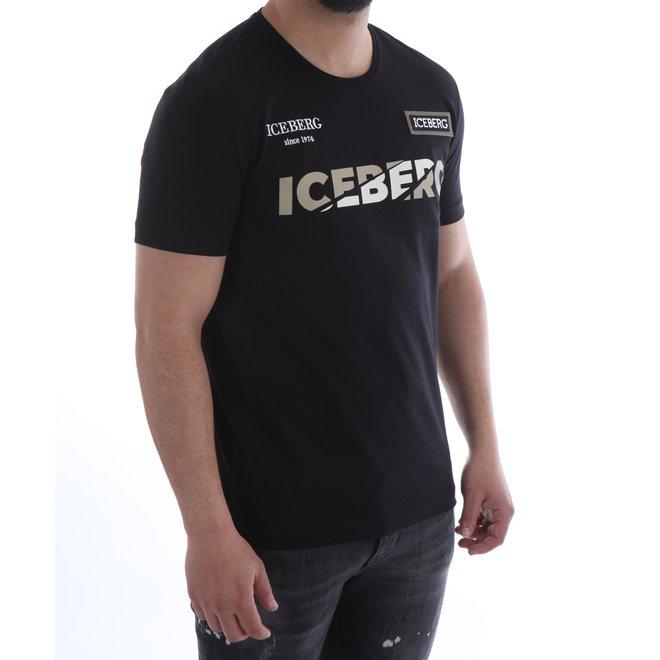 Logo t-shirt   Zwart   Iceberg