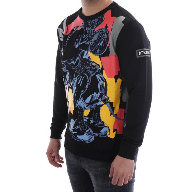 Sweater met opdruk | Zwart / Multicolor | Iceberg